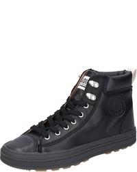 schwarze hohe Sneakers aus Leder von Palladium