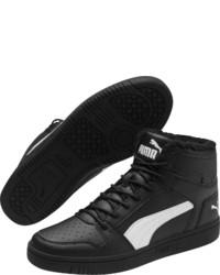 schwarze hohe Sneakers aus Leder von Puma