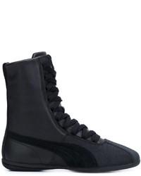 Modische schwarze hohe Sneakers aus Leder für Damen von Puma für ... 59cca3c853