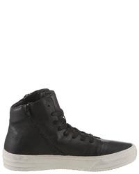 schwarze hohe Sneakers aus Leder von Replay