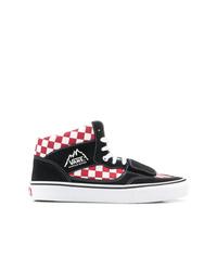 schwarze hohe Sneakers aus Segeltuch mit Karomuster von Vans