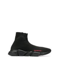 schwarze hohe Sneakers aus Segeltuch von Balenciaga