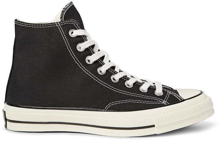 the latest cf095 6bfaf €77, schwarze hohe Sneakers aus Segeltuch von Converse