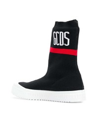 schwarze hohe Sneakers aus Segeltuch von Gcds
