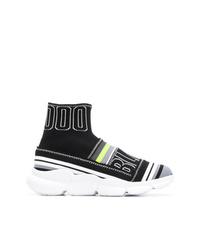schwarze hohe Sneakers aus Segeltuch von MSGM