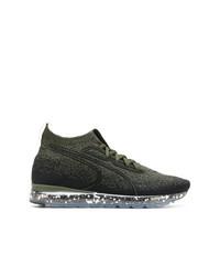 schwarze hohe Sneakers aus Segeltuch von Puma