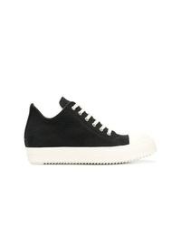 schwarze hohe Sneakers aus Segeltuch von Rick Owens DRKSHDW