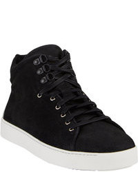 schwarze hohe Sneakers aus Wildleder