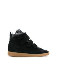 schwarze hohe Sneakers aus Wildleder von Isabel Marant