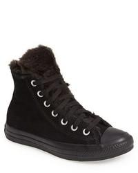 schwarze hohe Sneakers