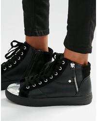 schwarze hohe Sneakers von Aldo