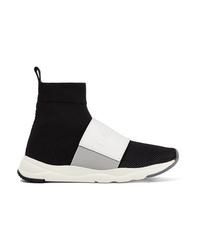 schwarze hohe Sneakers von Balmain