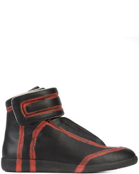 schwarze hohe Sneakers von Maison Margiela
