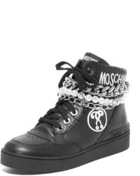 schwarze hohe Sneakers von Moschino