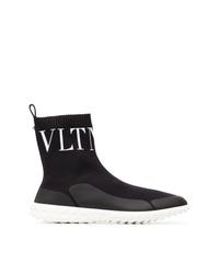 schwarze hohe Sneakers von Valentino