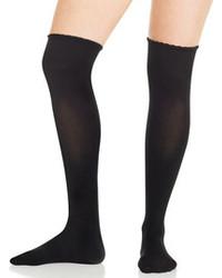 Schwarze Hohe Socken