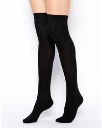 schwarze hohen Socken von Asos