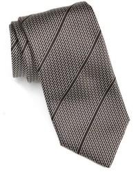 schwarze horizontal gestreifte Krawatte