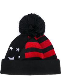 schwarze horizontal gestreifte Mütze von Givenchy