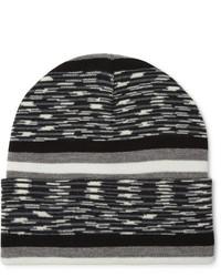 schwarze horizontal gestreifte Mütze von Missoni