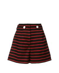schwarze horizontal gestreifte Shorts von Proenza Schouler