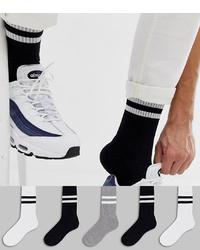 schwarze horizontal gestreifte Socken von ASOS DESIGN