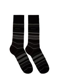 schwarze horizontal gestreifte Socken von BOSS
