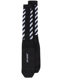 schwarze horizontal gestreifte Socken von Off-White