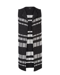 schwarze horizontal gestreifte Wollweste von Brax