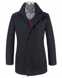 schwarze Jacke mit einer Kentkragen und Knöpfen von CLASS INTERNATIONAL