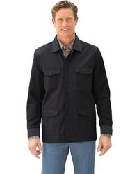 schwarze Jacke mit einer Kentkragen und Knöpfen von Classic
