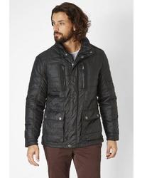 schwarze Jacke mit einer Kentkragen und Knöpfen von REDPOINT
