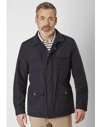 schwarze Jacke mit einer Kentkragen und Knöpfen von S4 JACKETS