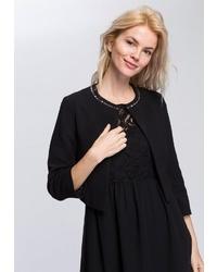 schwarze Jacke mit einer offenen Front von ESPRIT Collection