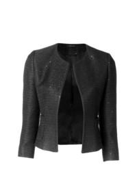 schwarze Jacke mit einer offenen Front von Tagliatore