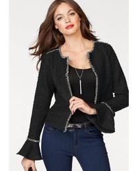 schwarze Jacke mit einer offenen Front von Vero Moda