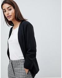schwarze Jacke mit einer offenen Front von Vila