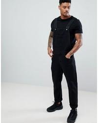 schwarze Jeans Latzhose von ASOS DESIGN