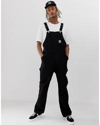 schwarze Jeans Latzhose von Carhartt WIP
