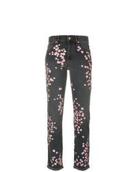 schwarze Jeans mit Blumenmuster von Isabel Marant