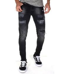 schwarze Jeans mit Destroyed-Effekten von Bright Jeans