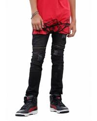 schwarze Jeans mit Destroyed-Effekten von Buffalo