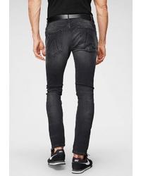schwarze Jeans mit Destroyed-Effekten von Chasin'