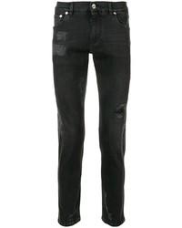 schwarze Jeans mit Destroyed-Effekten von Dolce & Gabbana