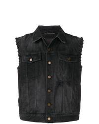 schwarze Jeans-Weste