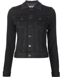 schwarze Jeansjacke von AG Jeans