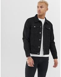 schwarze Jeansjacke von Another Influence