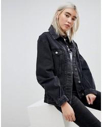 schwarze Jeansjacke von ASOS DESIGN