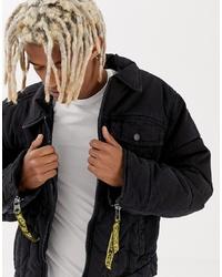 schwarze Jeansjacke von Cheap Monday