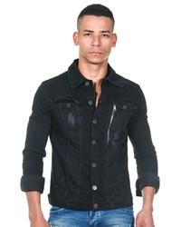 schwarze Jeansjacke von EX-PENT